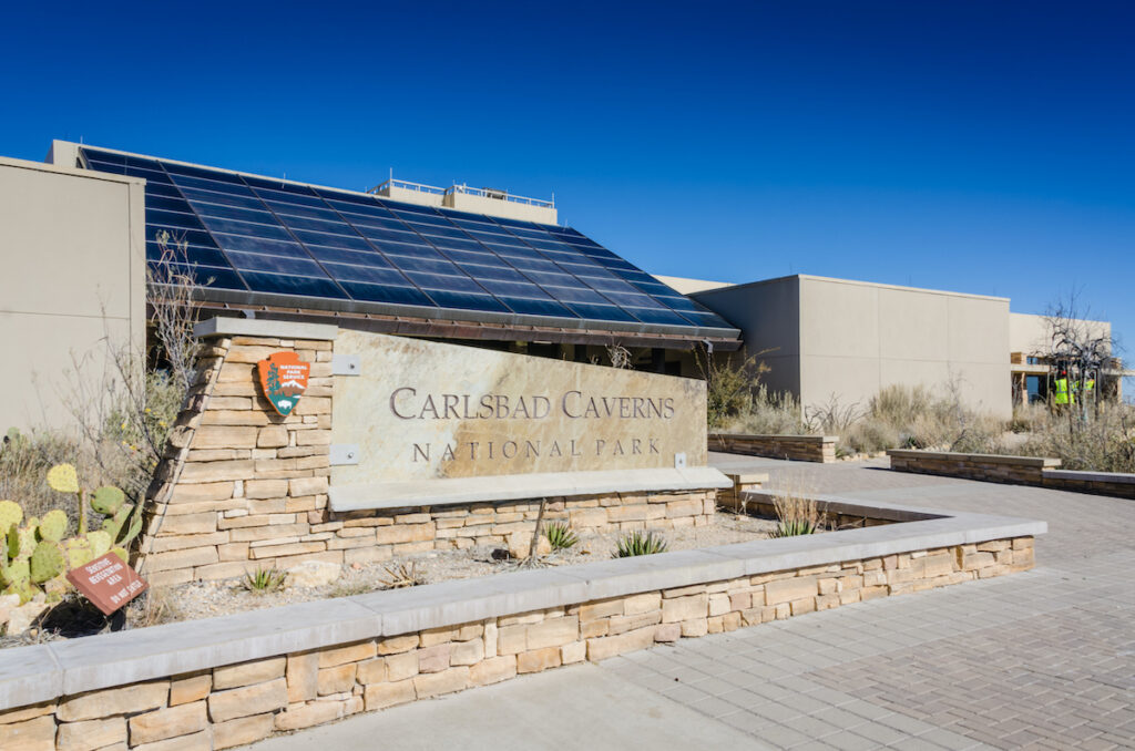 Visitor Center at Carlsbad Caverns National Park is in the Chihuahuan Desert.