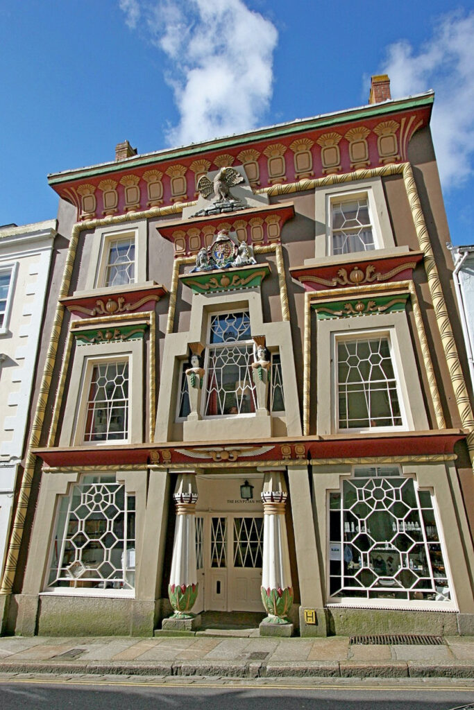 The Egyptian House in Penzance, Cornwall.