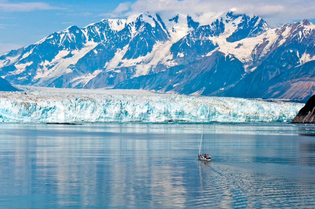 Sailing the Hubbard Glacier across Disenchantment Bay.