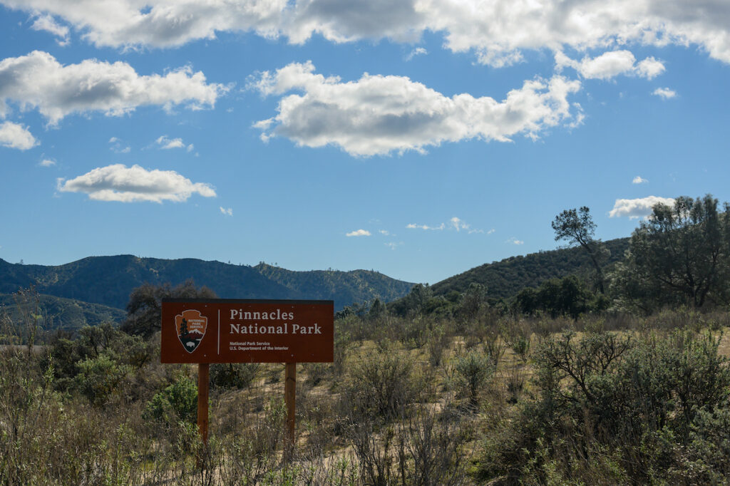 Entering on of Pinnacles National park entrances.