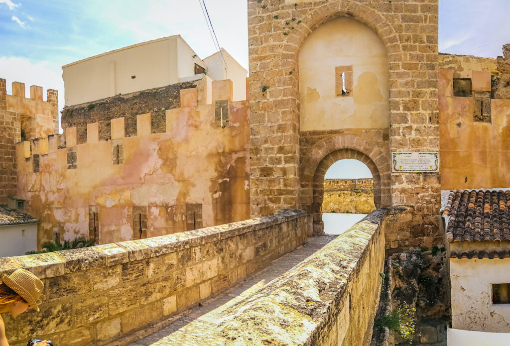 Buñol medieval castle located near Valencia, and it is famous for hosting the Tomatina festival.