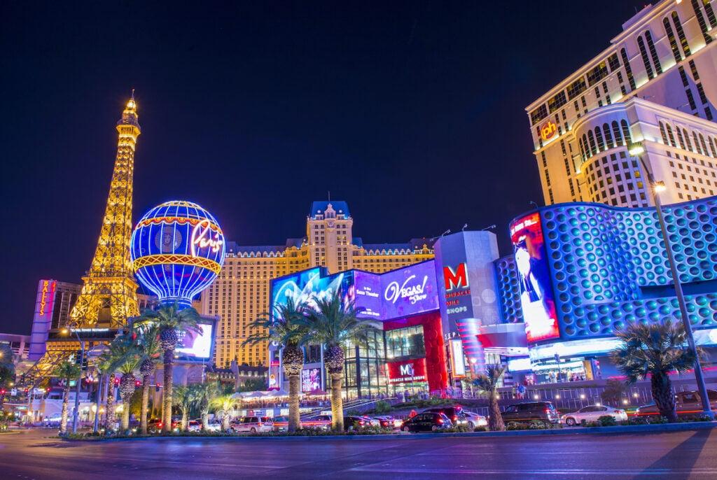 Las Vegas at night time.