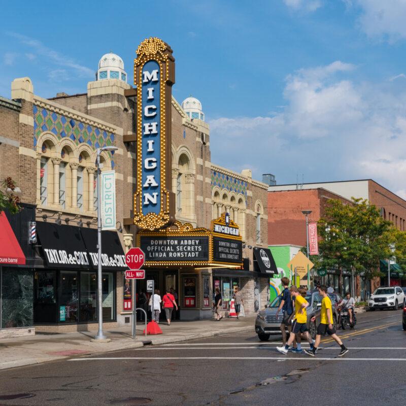 Michigan Theater, Downtown Ann Arbor, Michigan.