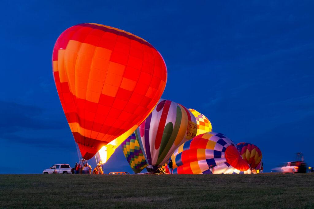 Air balloon festival at Indianola, Iowa.