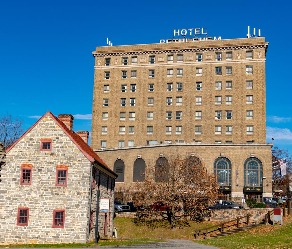 Historic Hotel Bethlehem in downtown Bethlehem PA