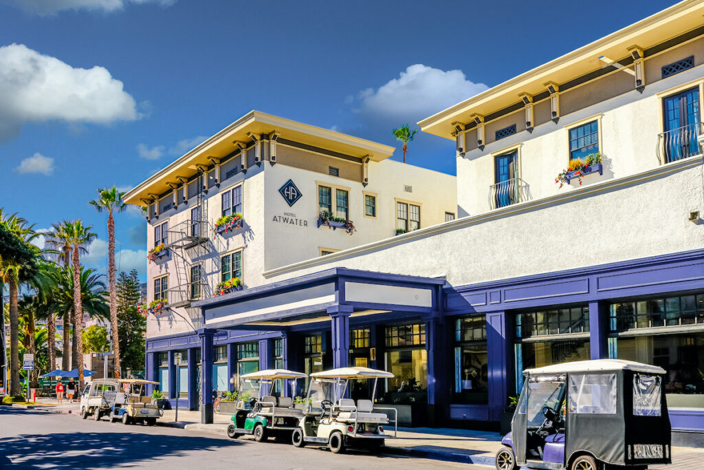 Avalon is a resort community with the waterfront dominated by tourism-oriented businesses on Santa Catalina Island.