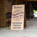 Virginia City sign in Montana.