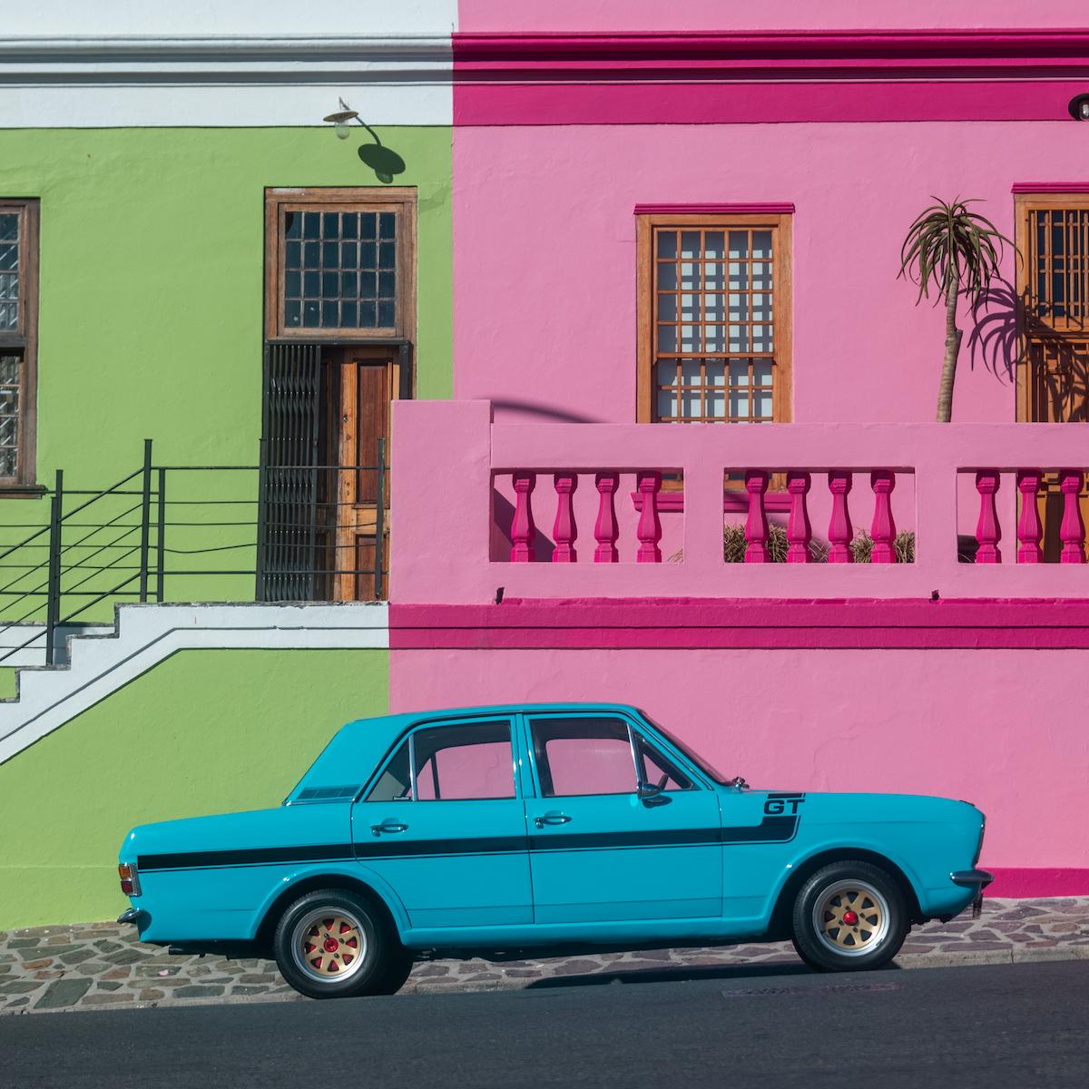 Colorful buildings in Bo Kaap