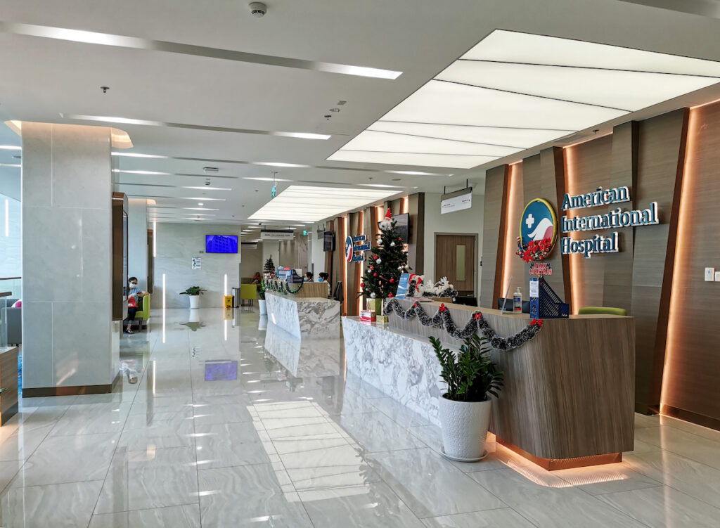 The private American International Hospital in Ho Chi Minh City, Vietnam