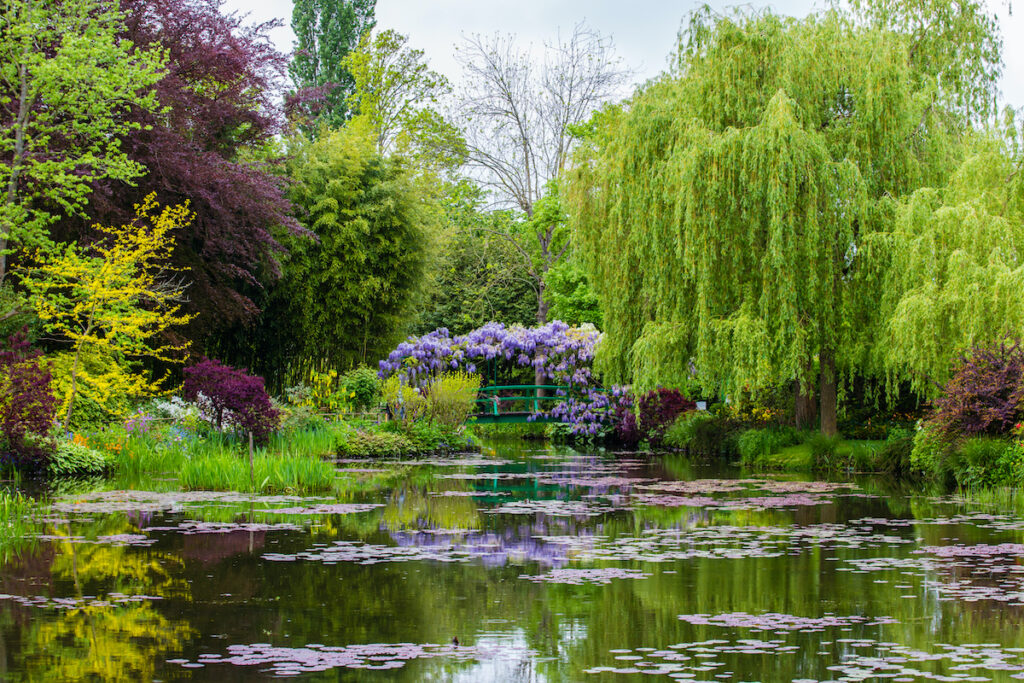 France Giverny Monet's garden spring in May.