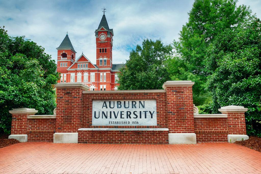 Auburn University located in Auburn, Alabama.