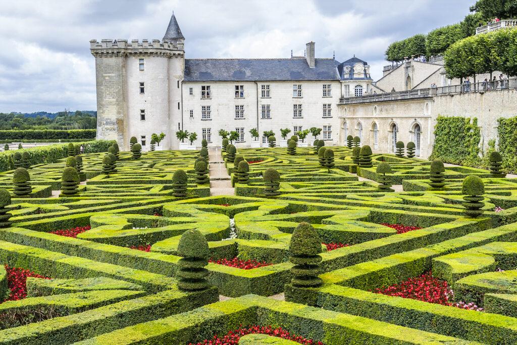 Palais de Villandry et ses jardins.