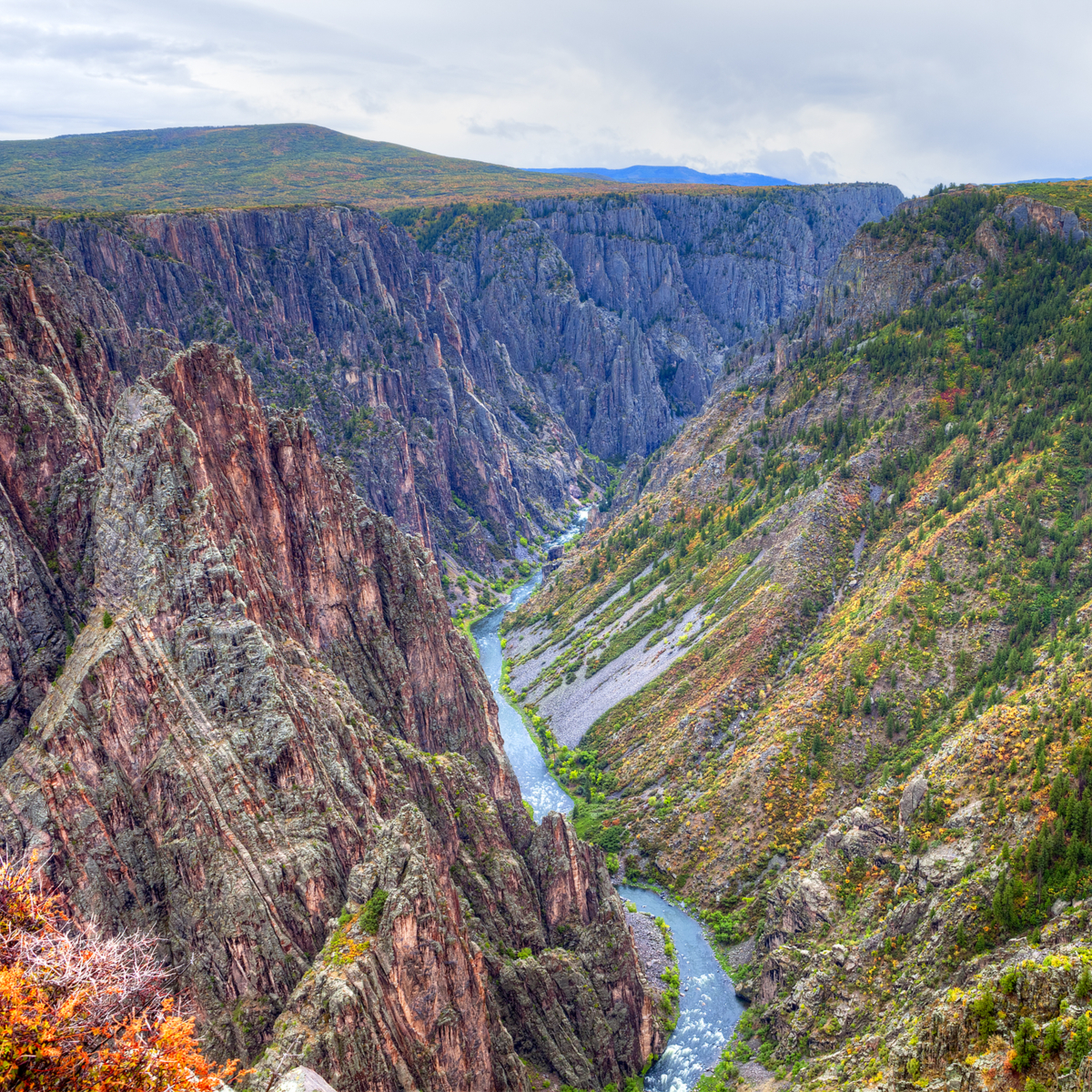 Black Canyon of the Gunnison National Park, in fall.