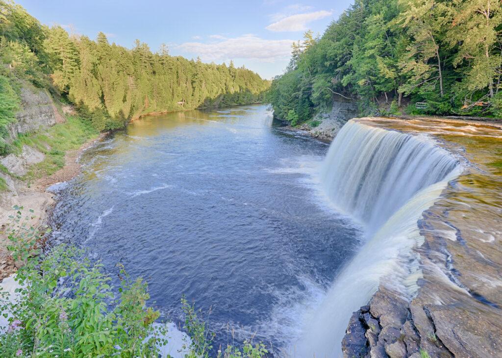 Upper Tahquamenon Falls in Tahquamenon Falls State Park, near Paradise, Michigan.