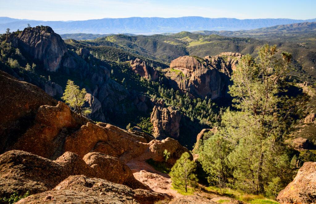 High view of Pinnacles National Park.