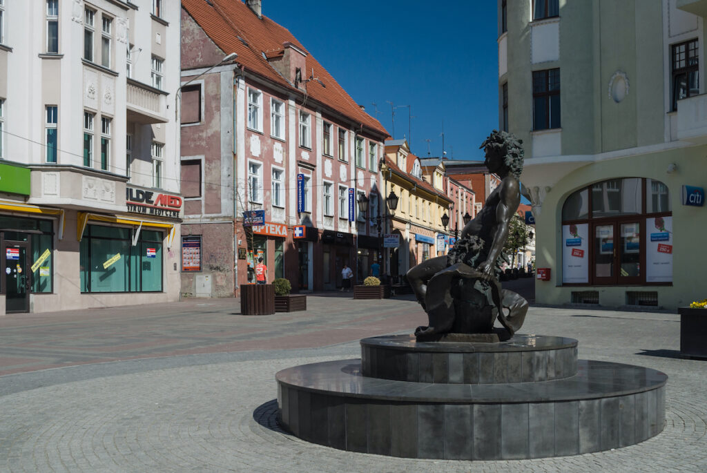 A street in Zielona Gora, Poland
