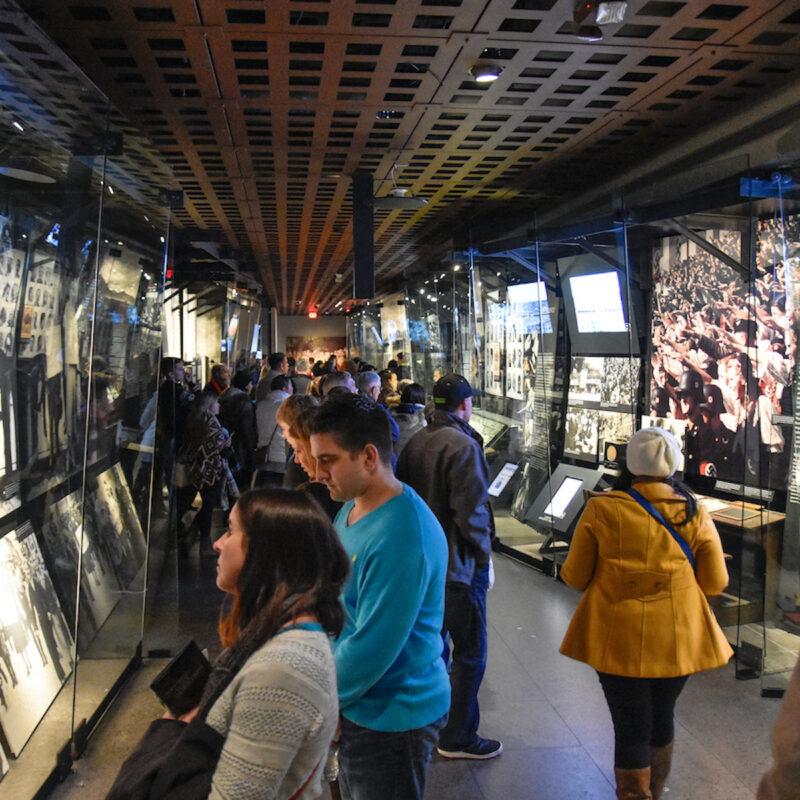 Internal view of the Holocaust Memorial Museum.
