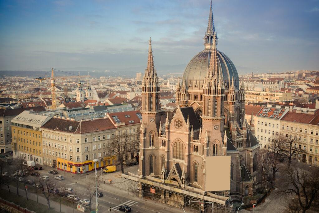 A historic church in Vienna