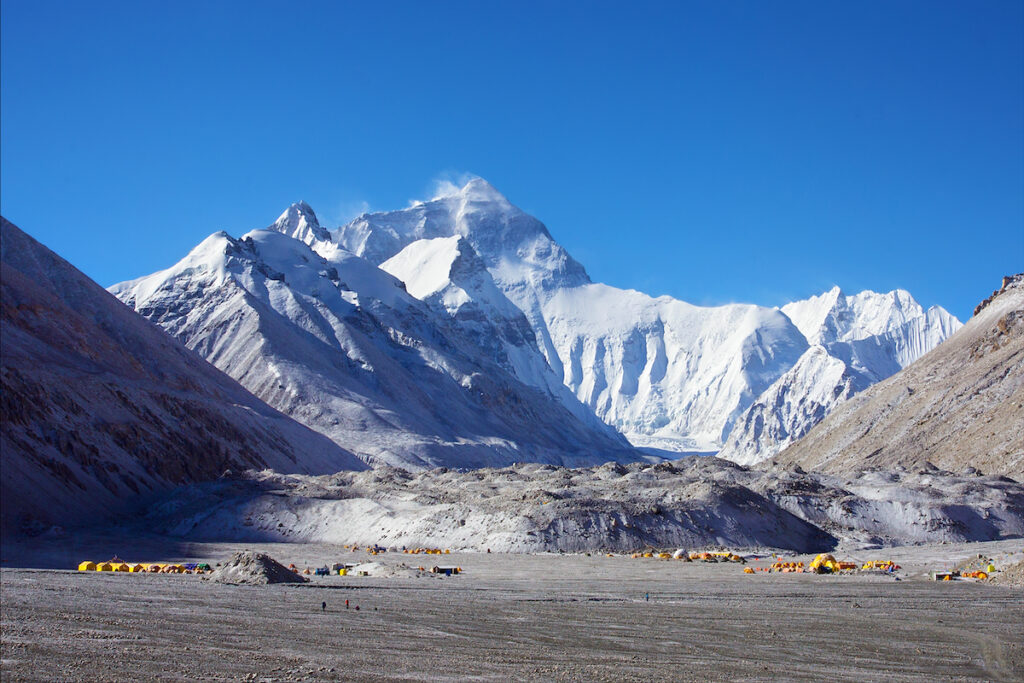 Mount Everest base camp, Tibet.