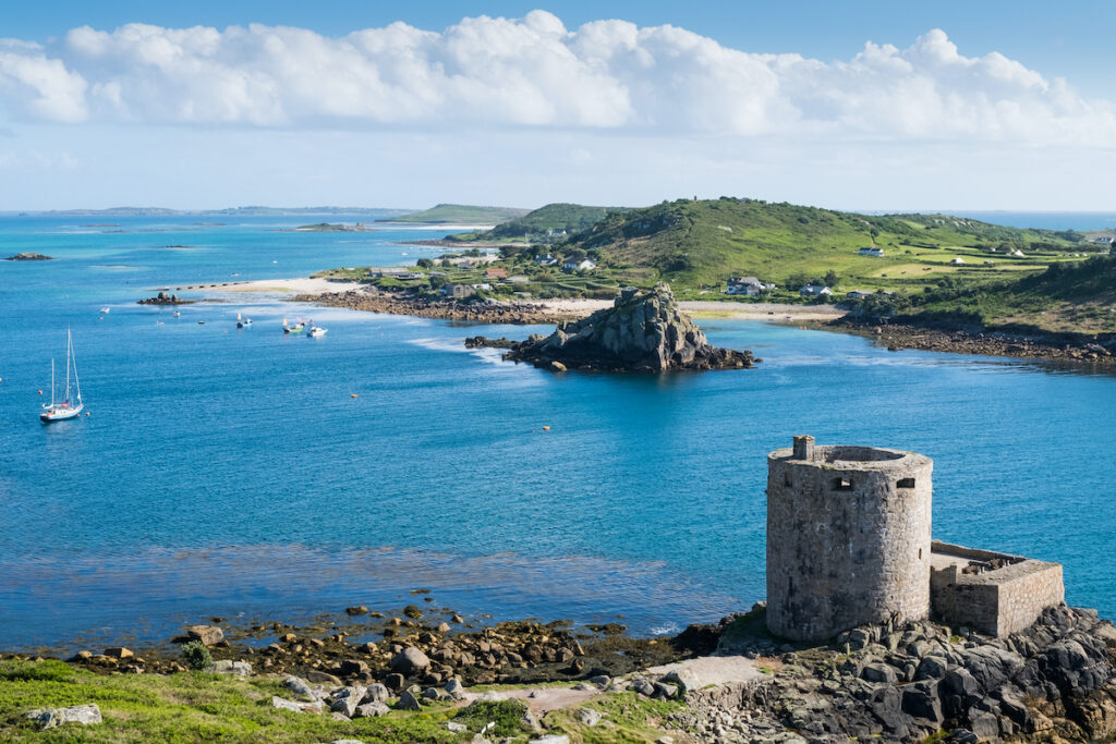 Castle Tresco and Bryher, Isles of Scilly, Cornwall, UK.