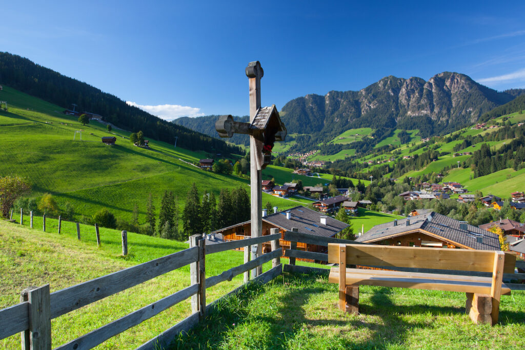 The village of Inneralpbach in the Alpbach valley, Austria, Tyrol.