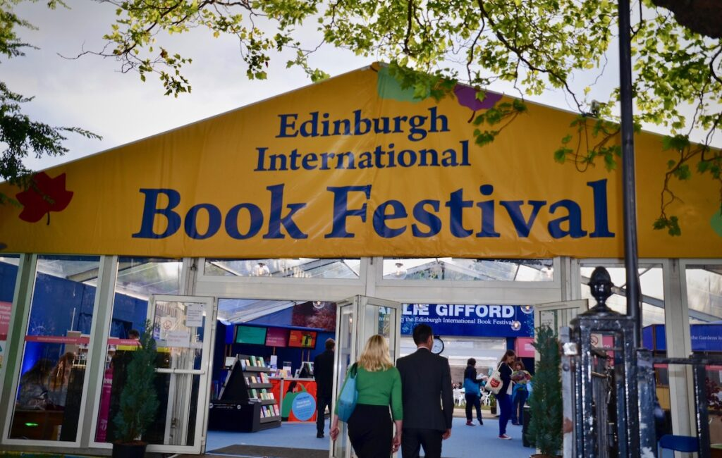 Edinburgh International Book Festival. George Street Edinburgh Scotland.