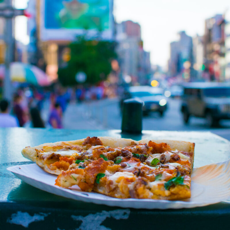 Pizza in New York City.