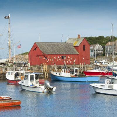 Fisherman's shack in Rockport Harbor, MA, New England