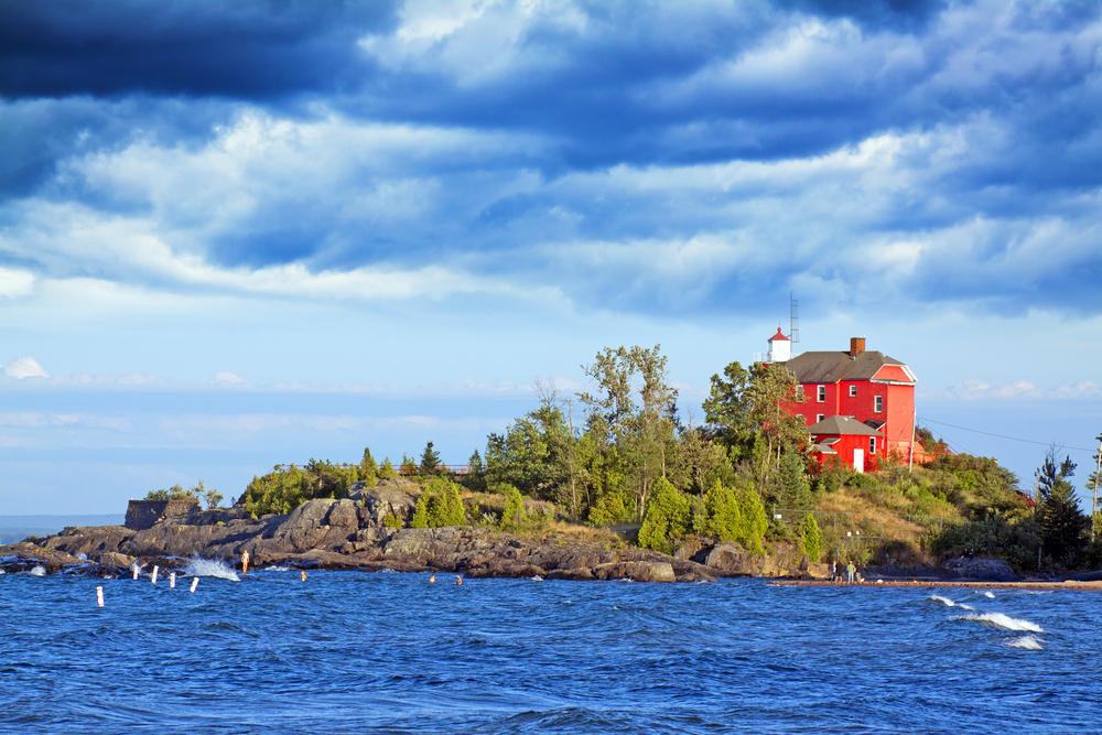 Red lighthouse Marquette, Michigan
