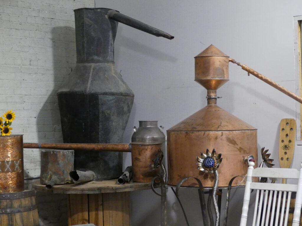 Antique stills, Dalton Distillery