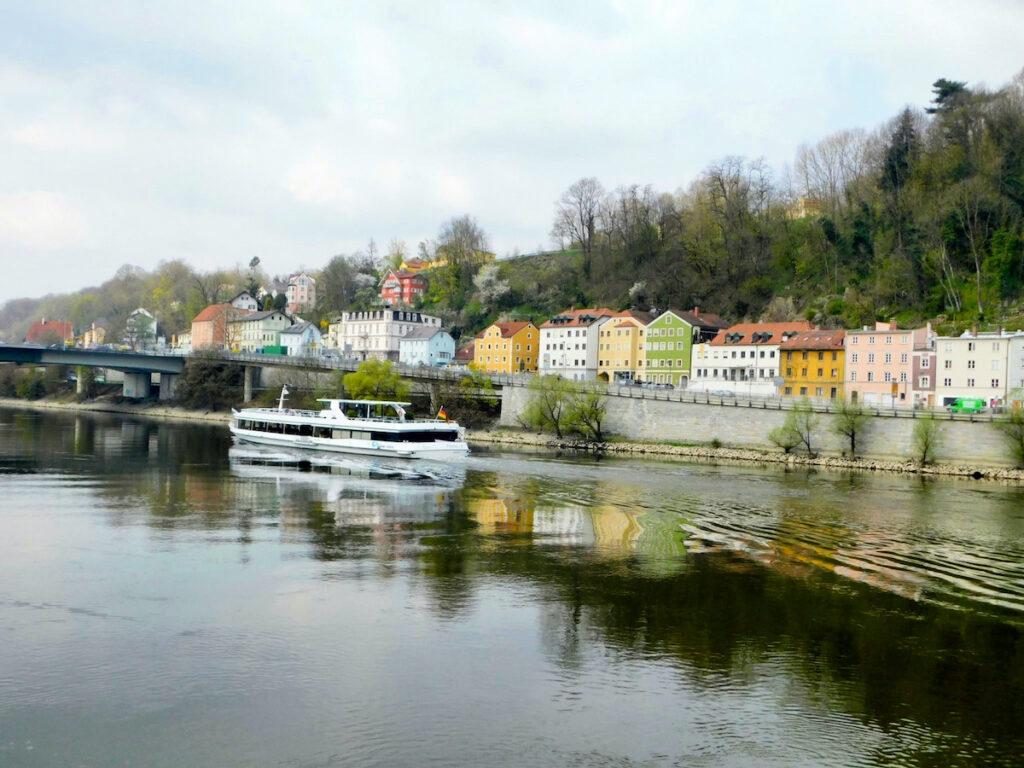 Viking cruise port in Passau.