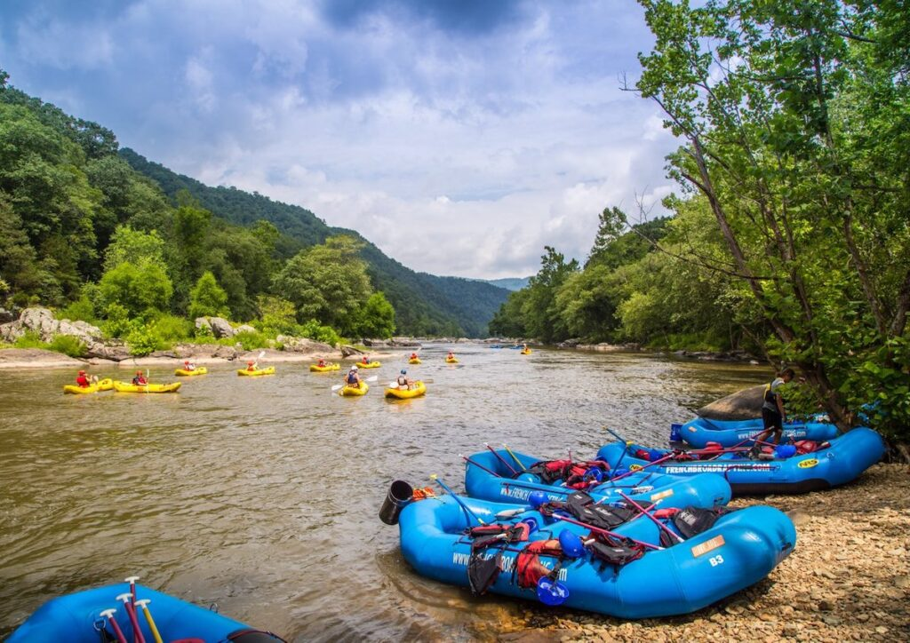 Rafting on the French Broad River.