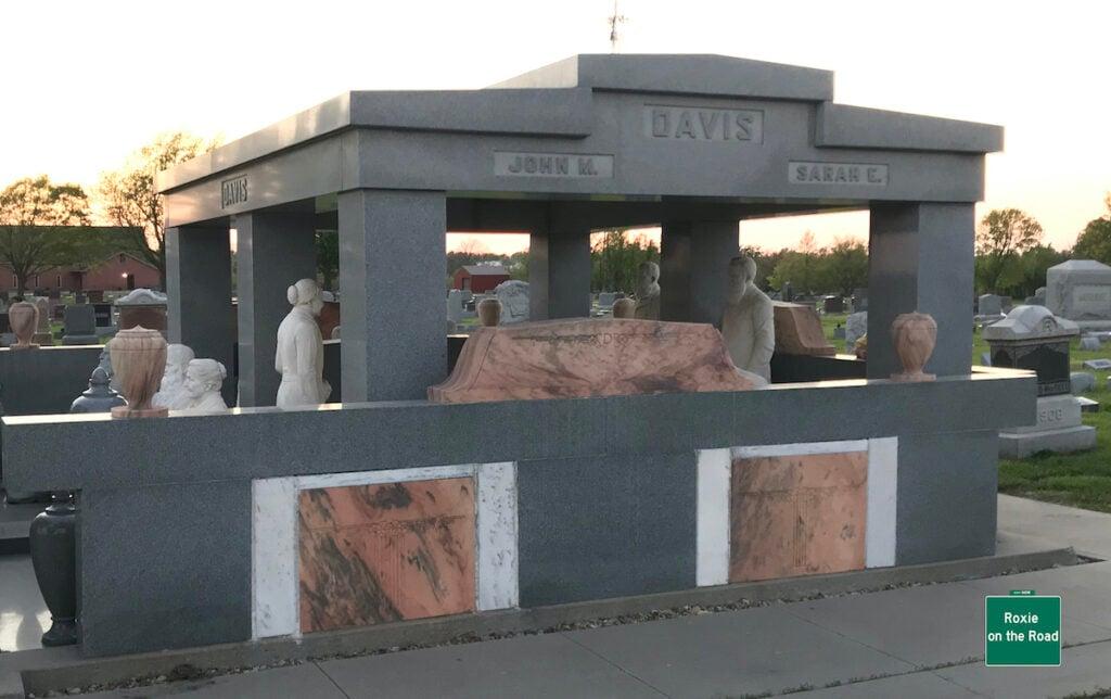 The John and Sarah Davis Memorial site.