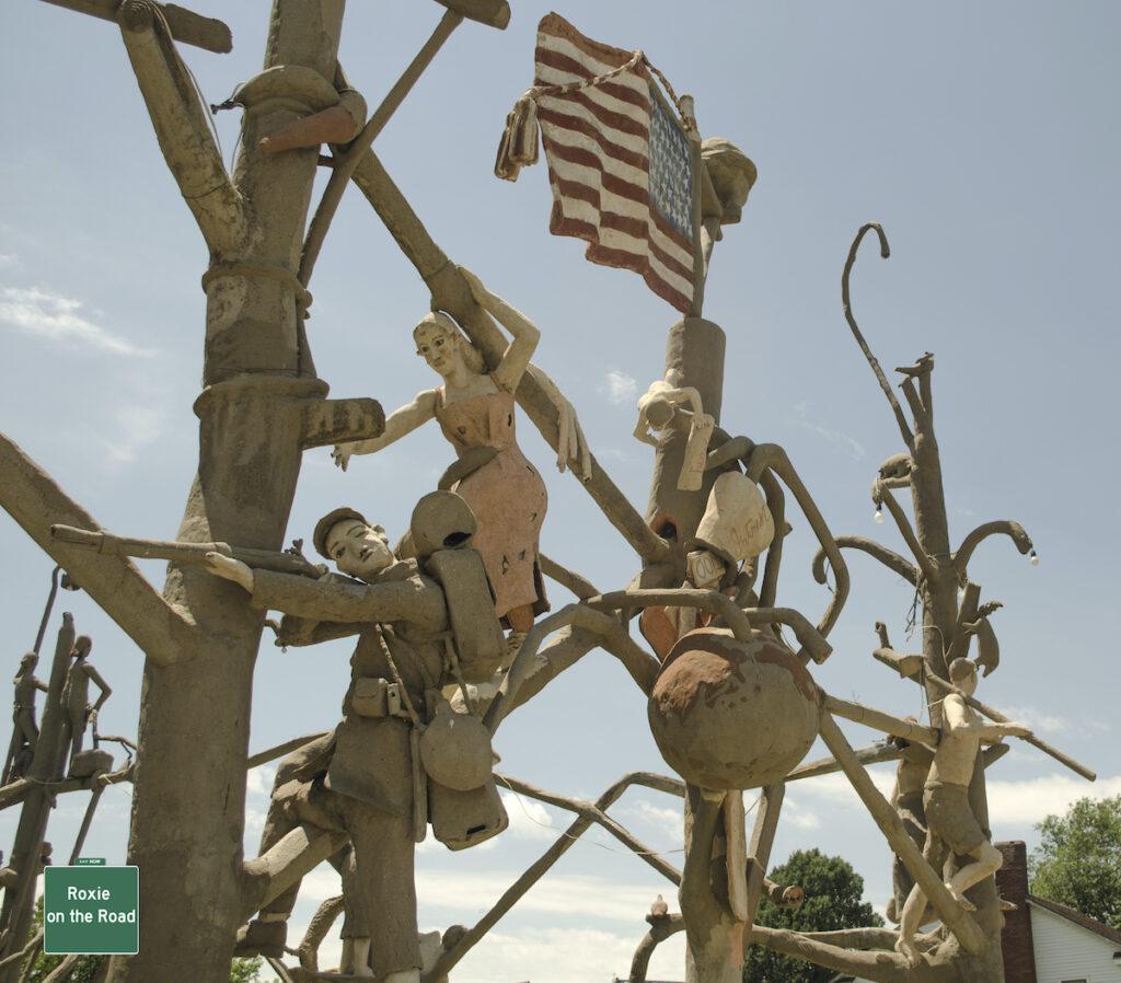 Garden of Eden with sign in Lucas, Kansas.