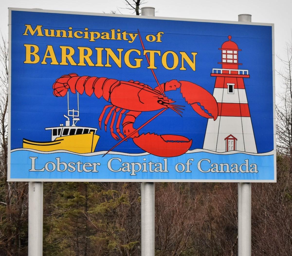 Barrington Canada's Lobster Capital, Sign.
