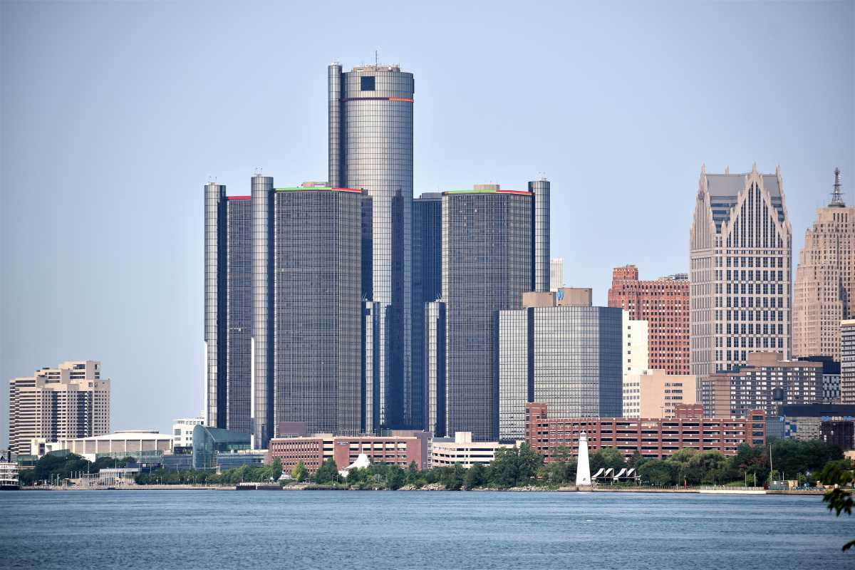View Of Downtown Detroit Skyline