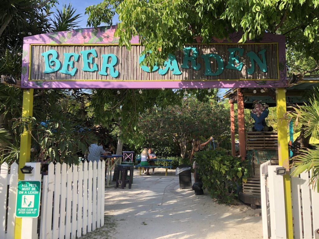 Beer Garden Entrance in the daytime.