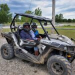 Sara in an off-road vehicle in Fort Dodge, Iowa.