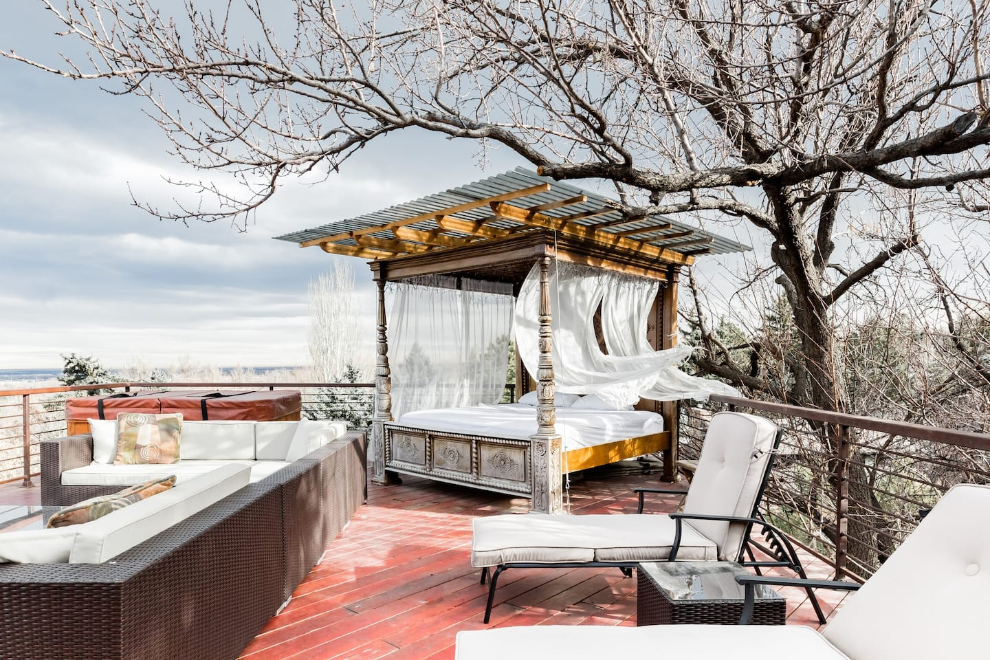 View of Boulder and the Rockies from your Balinese day bed