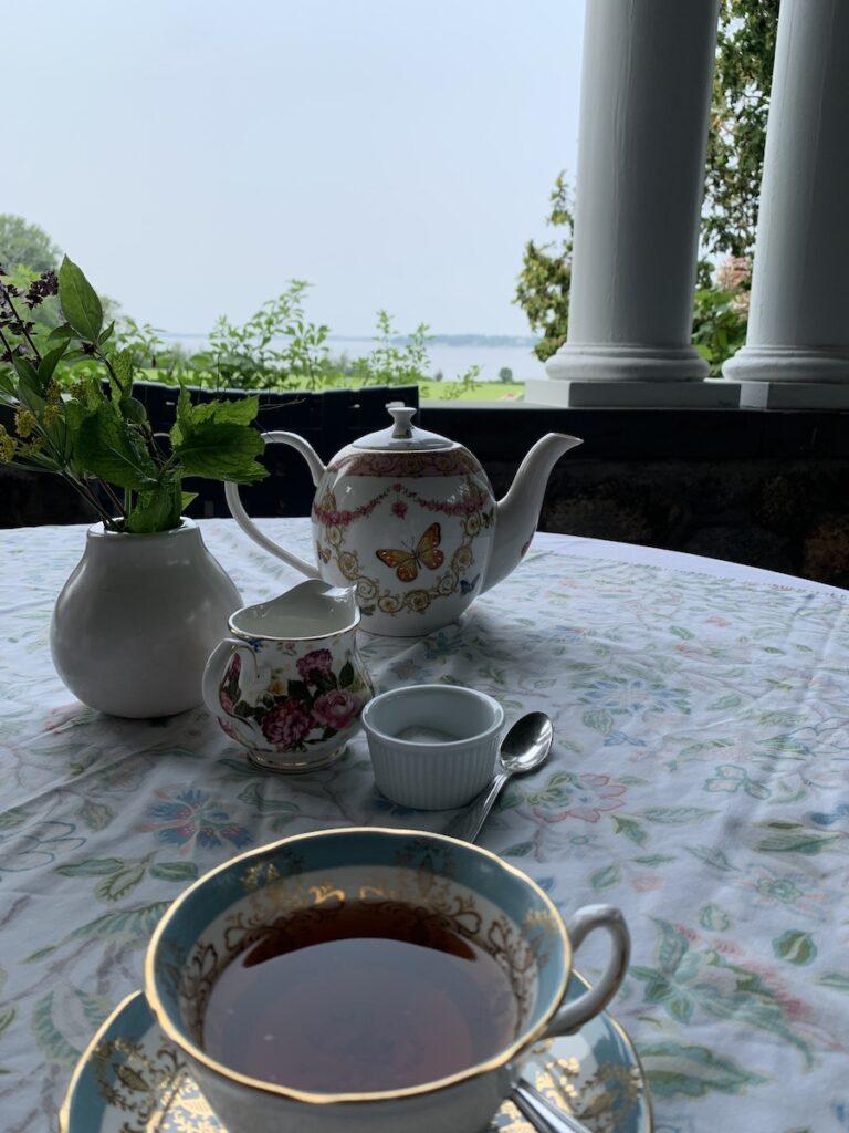 Tea at Blithewold Mansion, Bristol, Rhode Island.