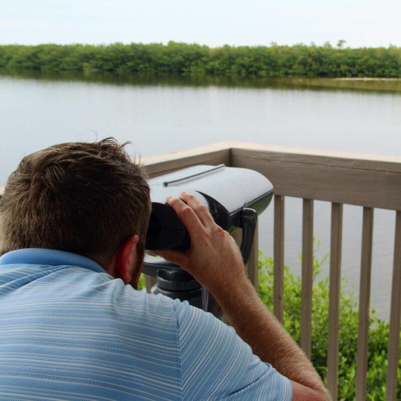 """The new colorblind scope at J.N. """"Ding"""" Darling National Wildlife Refuge."""