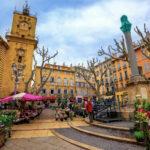Flower market in Aix-en-Provence, France