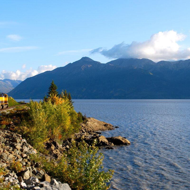 Alaska Railroad Turnagain Arm in Alaska