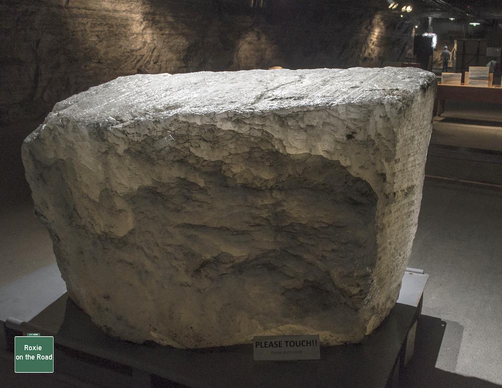 Salt boulders at Strataca, an underground museum in Hutchinson, Kansas