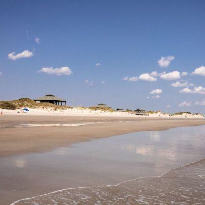 Bear Island Beach Hammocks Beach State Park shoreline.