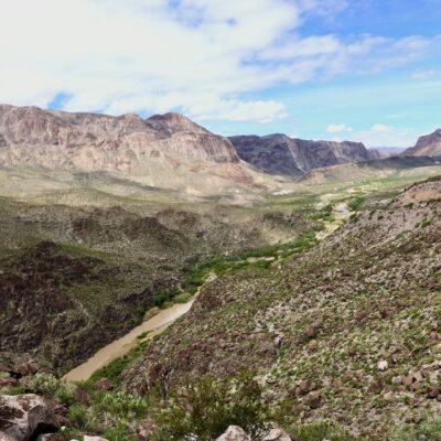 Big Bend Ranch State Park - Big Hill view - Rio Grande