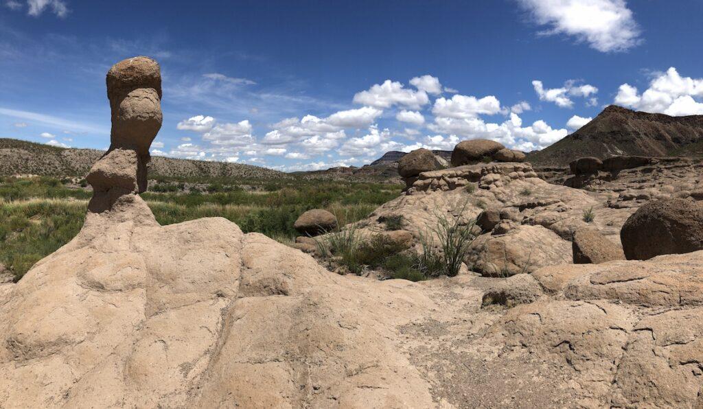 "The ""Hoodoos"" (rock spires) at Big Bend Ranch State Park."