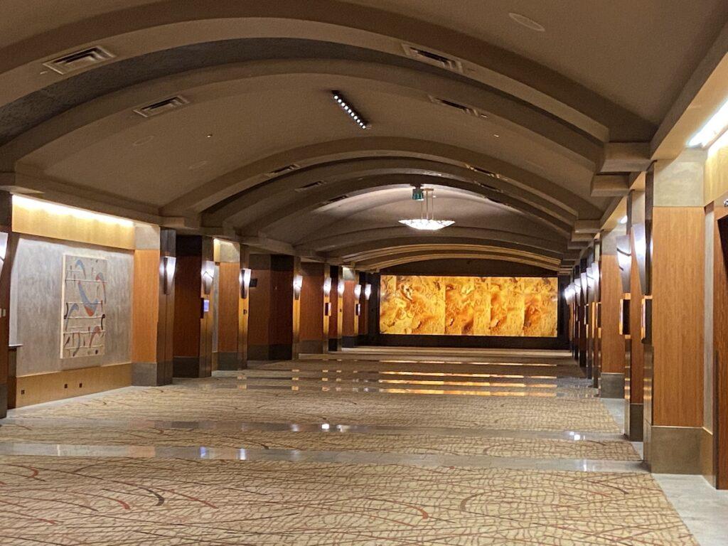 Stunning onyx wall at Grand Hyatt.