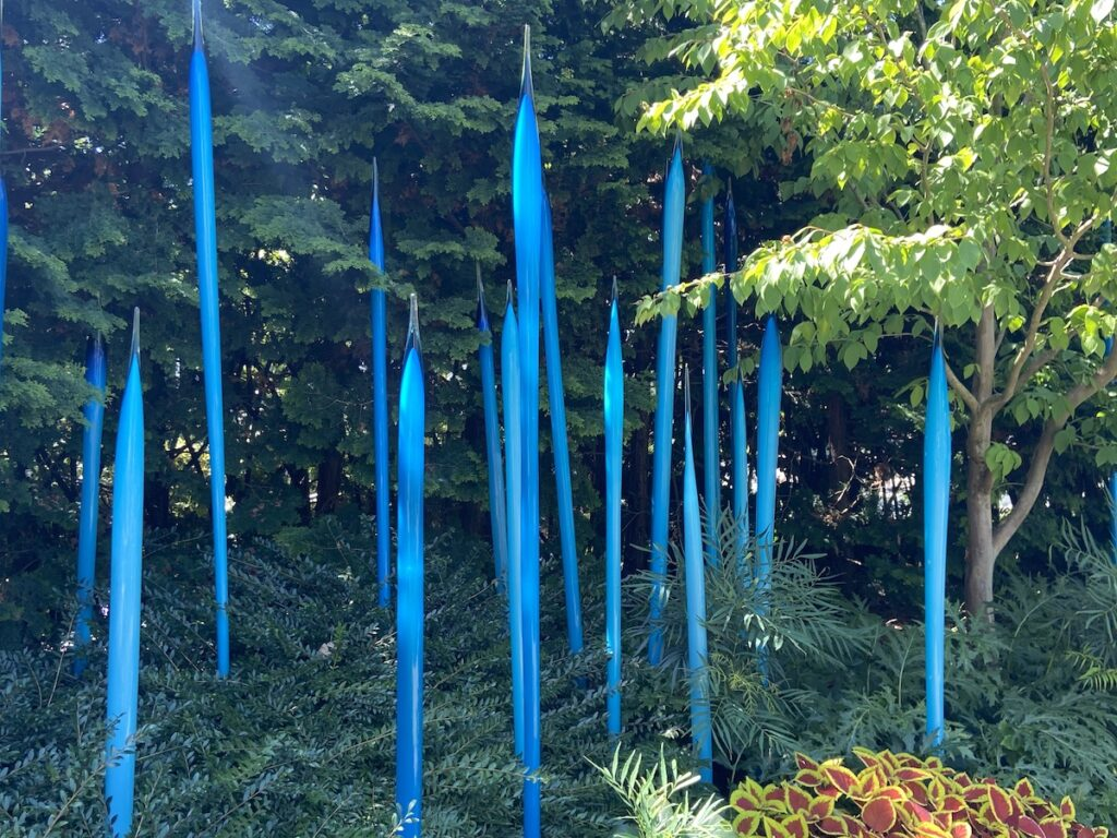 Dale Chihuly's work in the garden