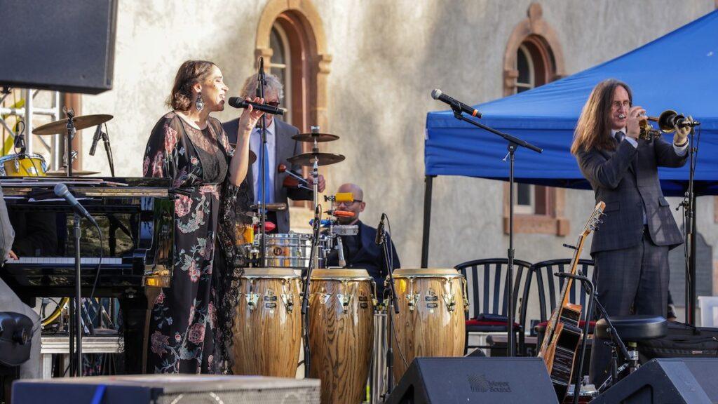 Band performing at Charles Krug Winery, CA